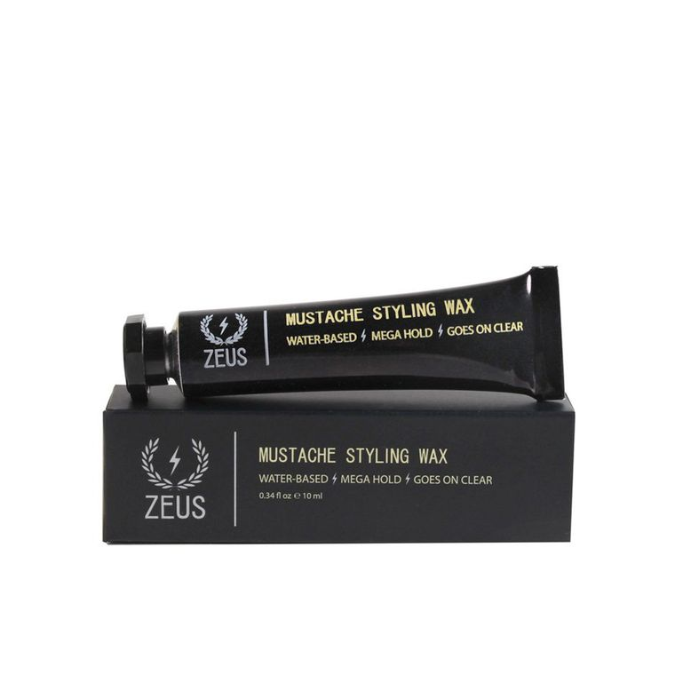 Zeus Mustache Styling Wax, Mega Hold Unscented