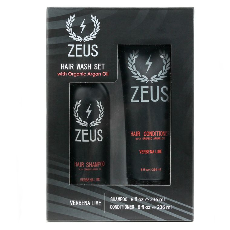 Hair Shampoo and Conditioner with Argan Oil Set, Zeus Verbena Lime