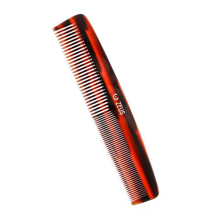 "Zeus Acetate Hair Comb 7.5"" Traditional"