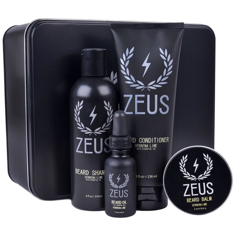 Zeus Everyday Beard Grooming Kit, Verbena Lime