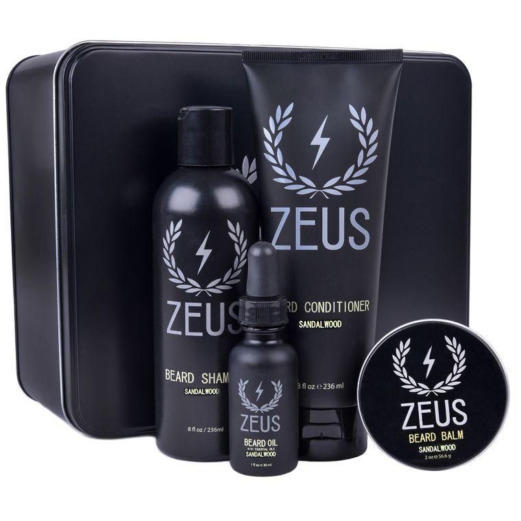 Zeus Everyday Beard Grooming Kit, Sandalwood