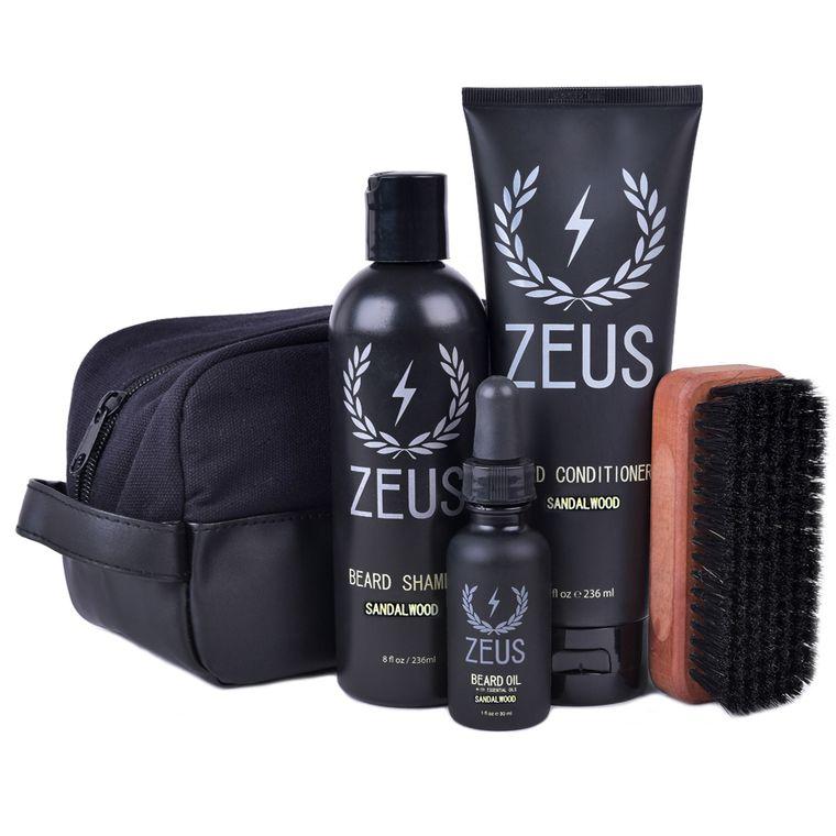 Zeus Deluxe Beard Care Dopp Kit Sandalwood