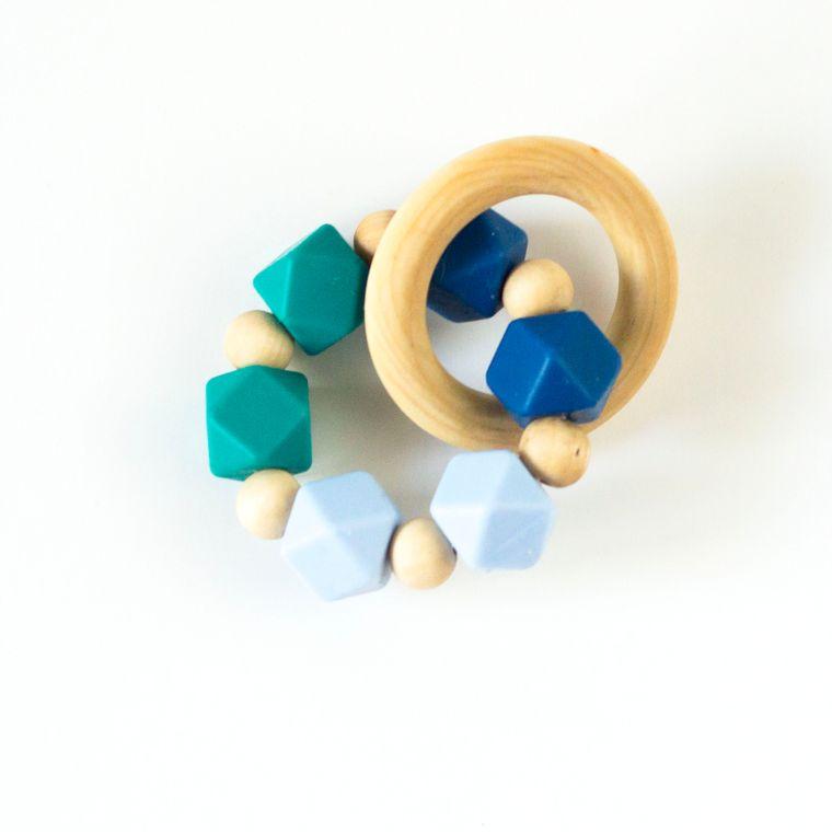 Hexi Teething Ring EMB