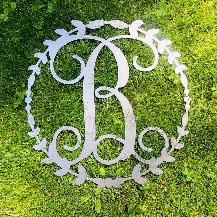 Wreath Vine Letters- Metal (Full Alphabet)