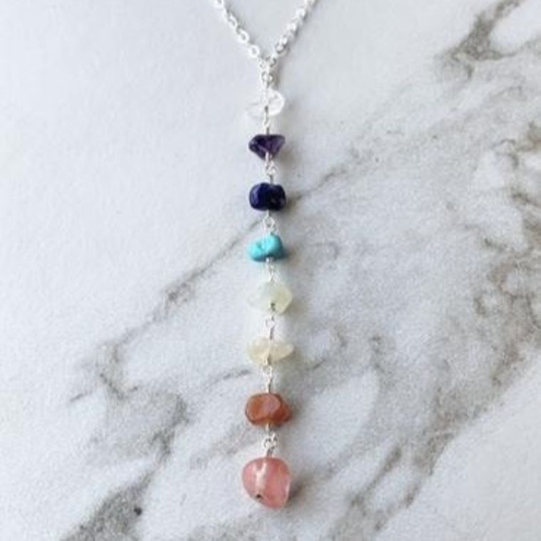Sterling Silver Chakra Necklace