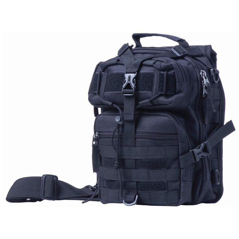 "11"" Black Sling Backpack"
