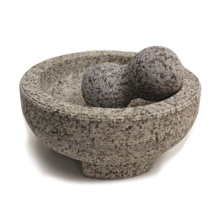 "HealthSmart 8"" Granite Molcajete Mortar and Pestle"