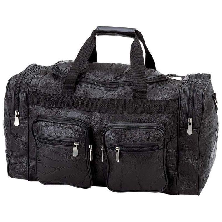 """Embassy Italian Stone Design Genuine Buffalo Leather 21"""" Tote Bag"""