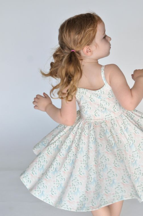 The Camila Dress in Magical Unicorn size 2T