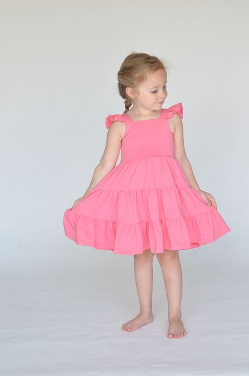 The Arya Dress in Bubblegum size 12/18mo