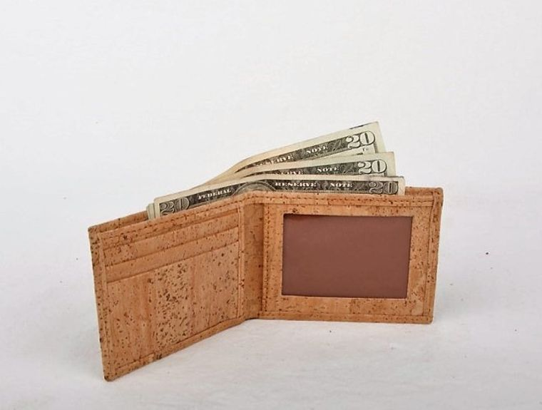 Natural Cork Men's Vegan Wallet