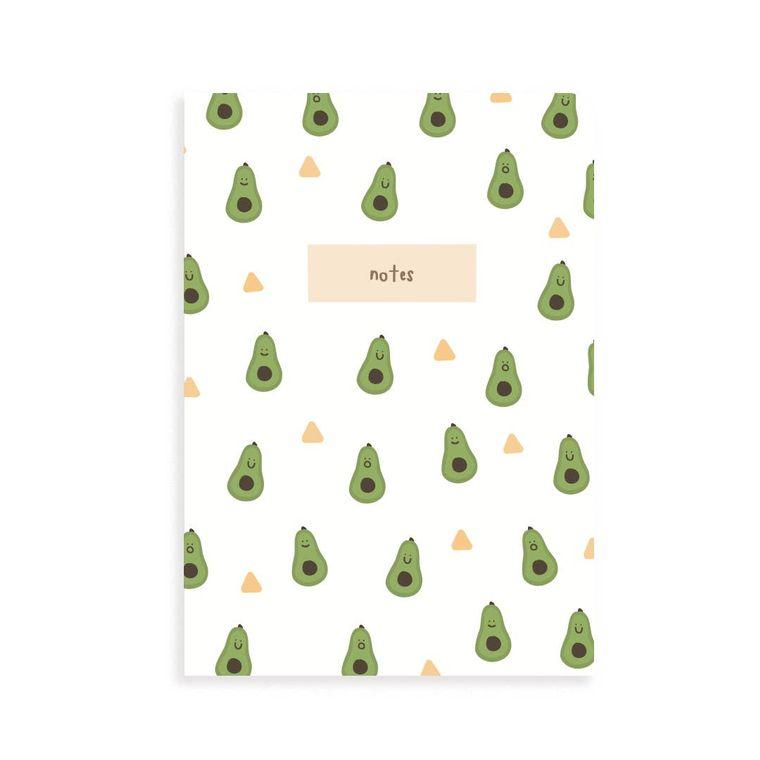 Avocado Pocket Grid Notebook