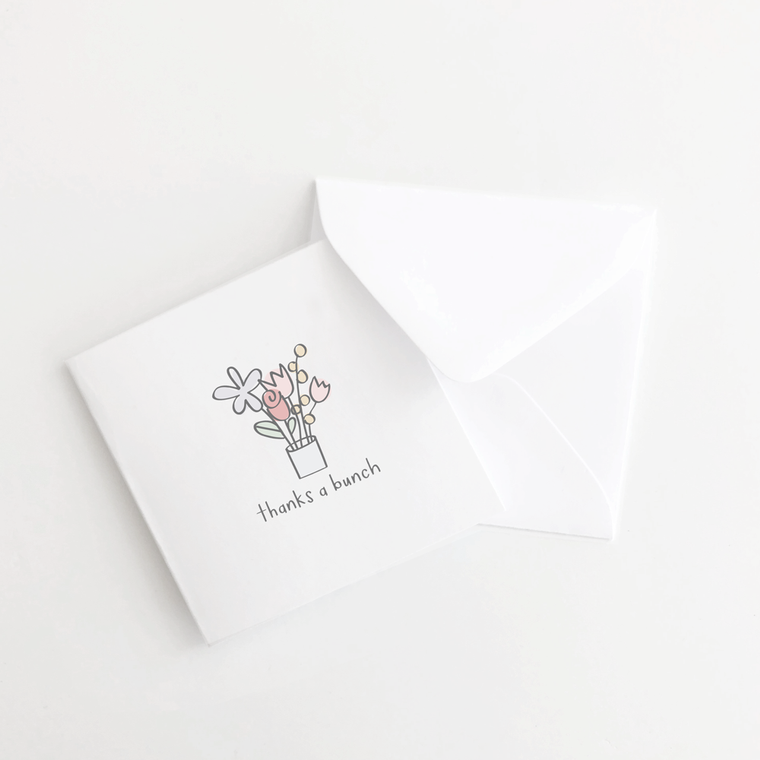 Thanks a Bunch Flowers Mini Card Set of 10