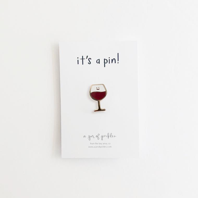 Wine Enamel Pin