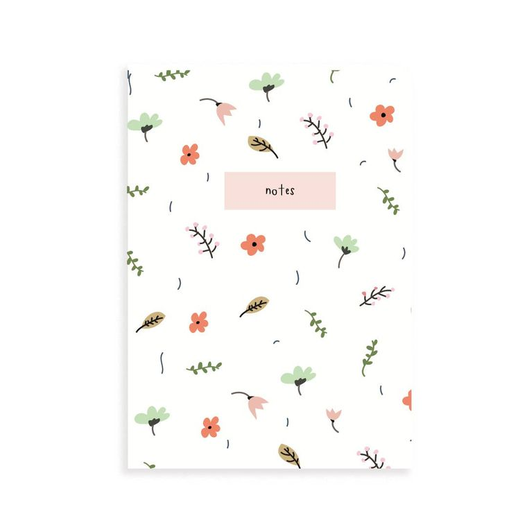 Spring Floral Pocket Grid Notebook