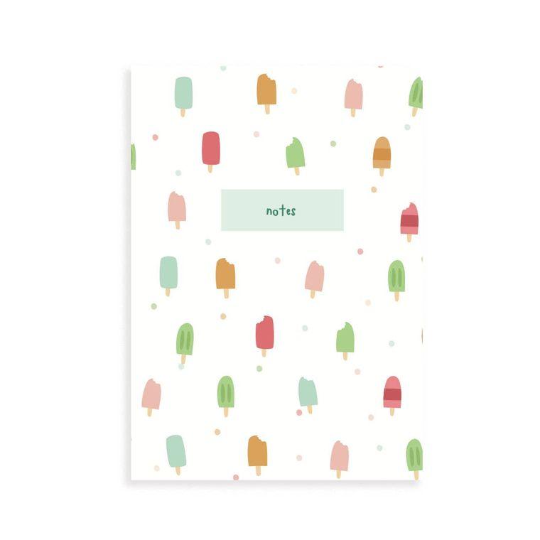 Popsicle Pocket Grid Notebook