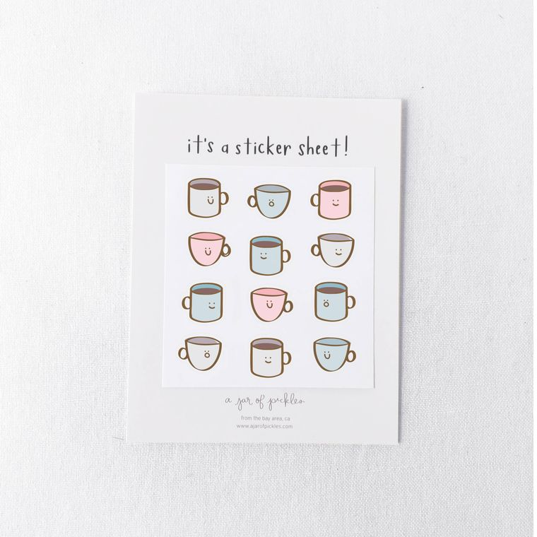 Coffee Mini Sticker Sheet