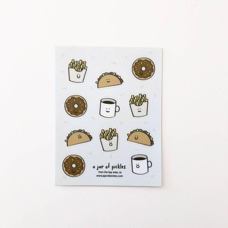 Donut Taco Sticker Sheet