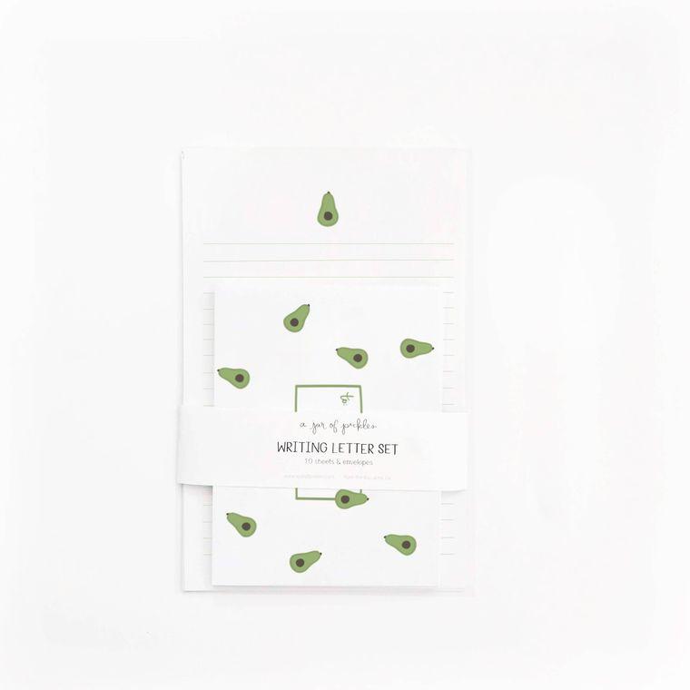 Avocado Letter Writing - Set of 10