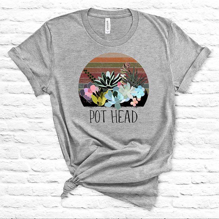 Pot Head Funny Plant T-shirt