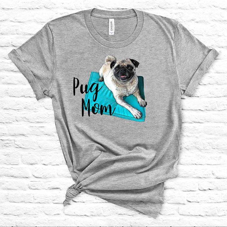 Pug Mom Dog T-shirt