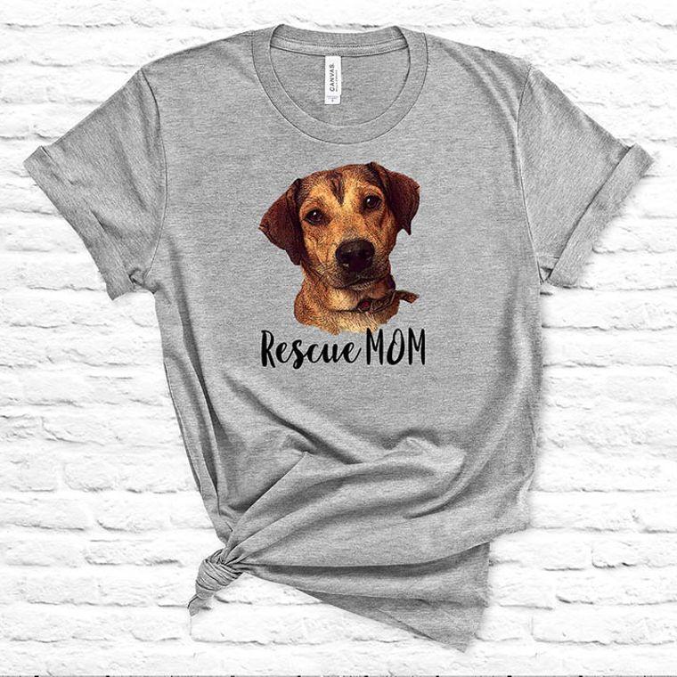 Rescue Mom Dog T-shirt