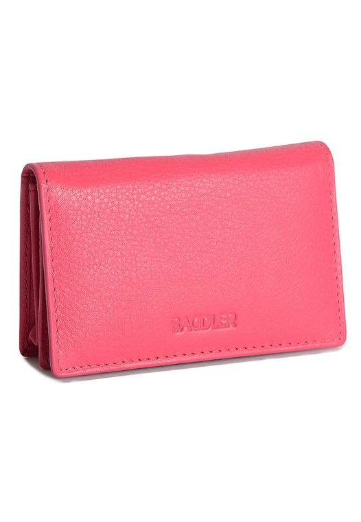 SADDLER Real Leather Credit Card Wallet & Business Card Holder With ID Window