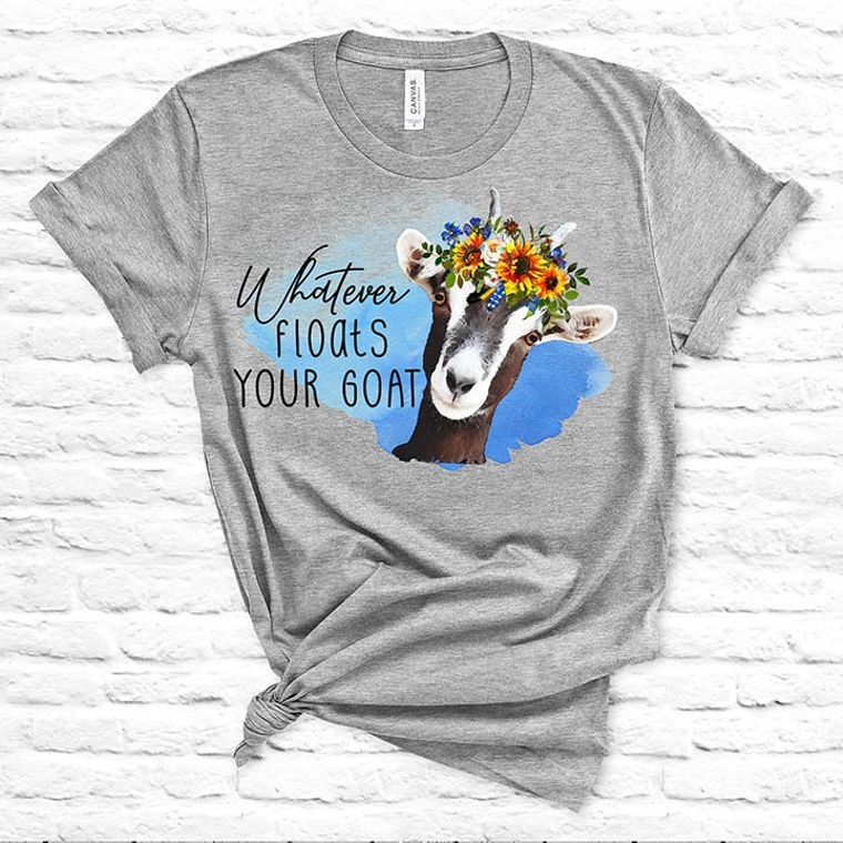 Whatever Floats your Goat Floral T-shirt - Set of 10 Shirts, S-XL