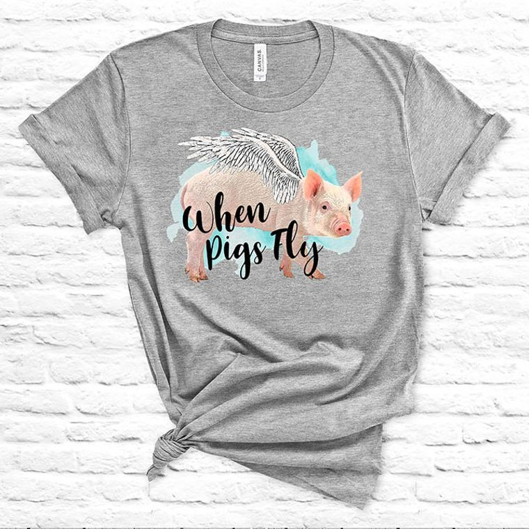 When Pigs Fly Funny Farm T-shirt - Set of 10 Shirts, S-XL