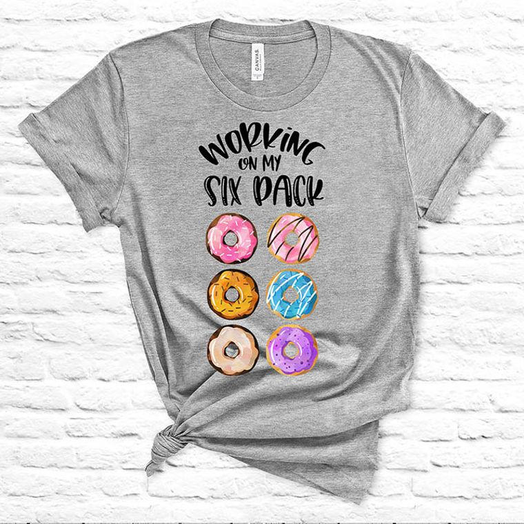 Working on my Six Pack Donut T-shirt - Set of 10 Shirts, S-XL