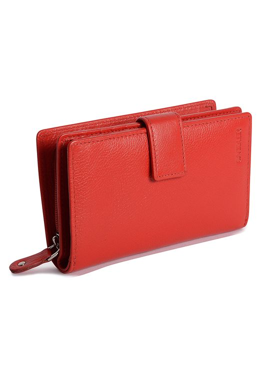 SADDLER Womens Real Leather Compact Double Flap Wallet - Coin Purse