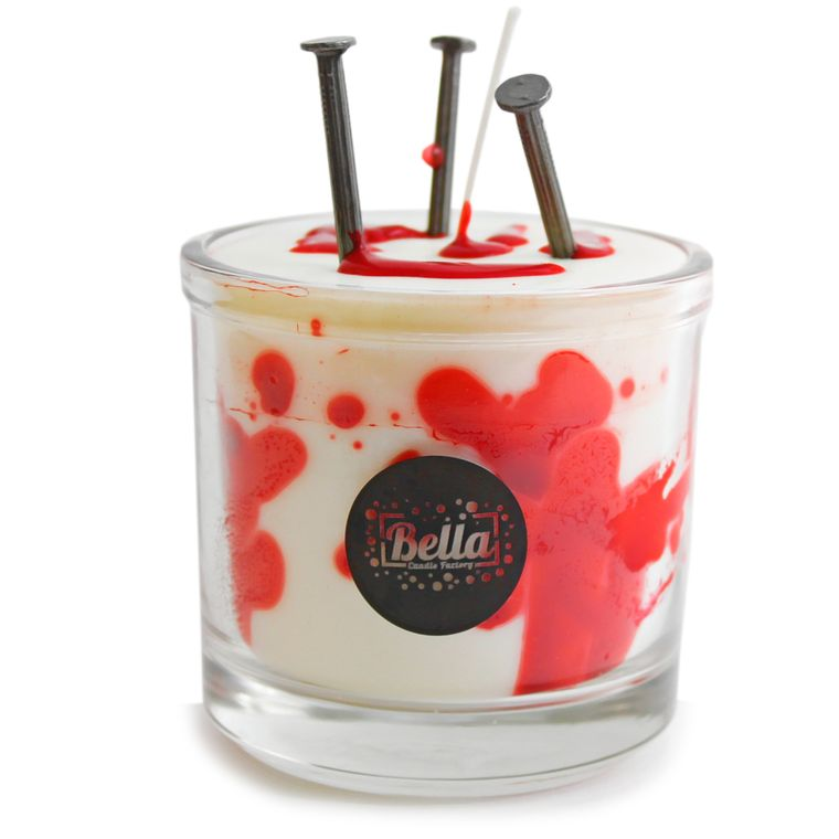 Nailed Halloween Bloody Candle Decor - Strawberry