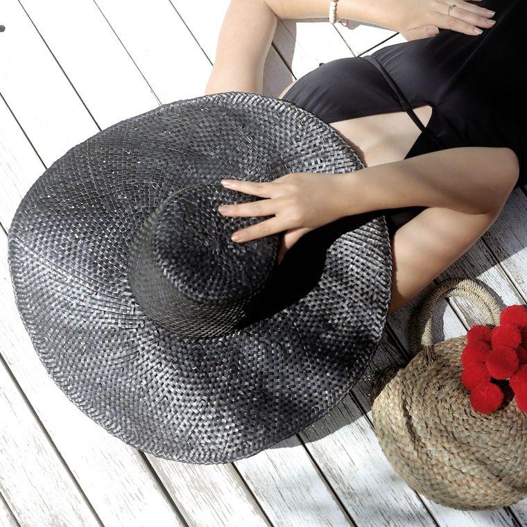 Balinese Swasti Wide Round Straw Hat (1-3 days)