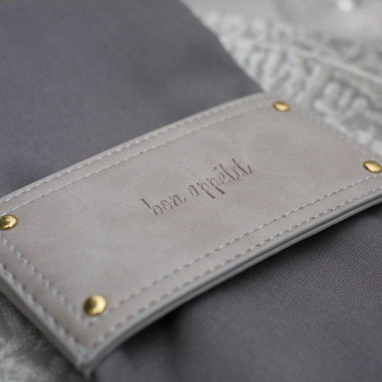 Leather Style Wrap, Grey Single