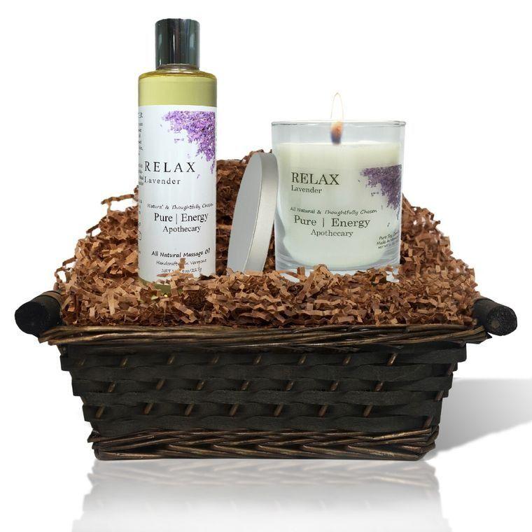 Relaxing Ritual Gift Basket (Lavender)