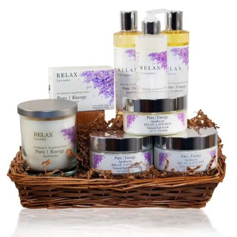 Premium Spa Gift Basket (Lavender)
