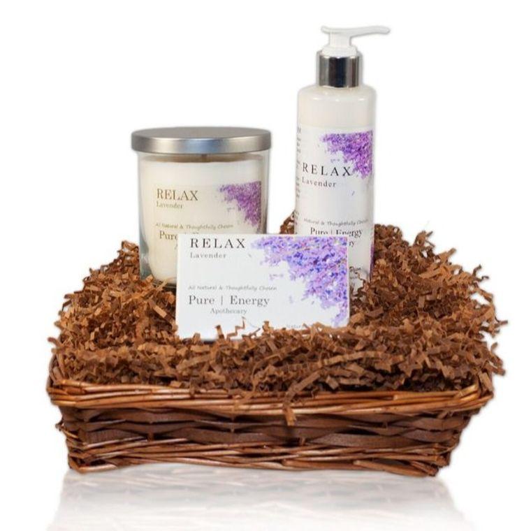 Nourishing Balance Gift Basket (Lavender)