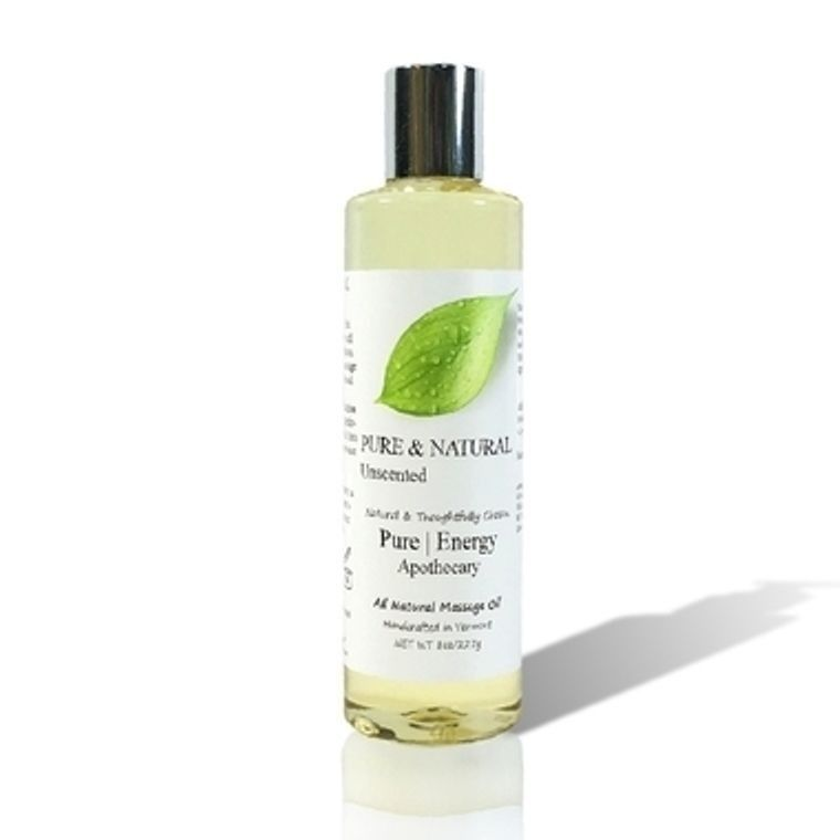 PURE & NATURAL (UNSCENTED) Massage Oils