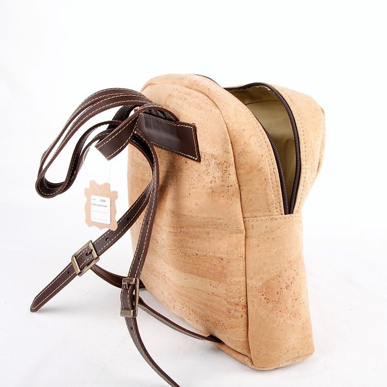 Natural Cork and Leather Backpack