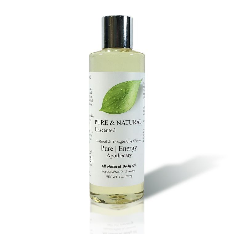 PURE & NATURAL (UNSCENTED) 8 oz Body Oil