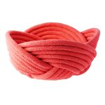 Weave bowl, small - coral