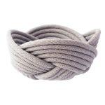 Weave bowl, small - smoke grey