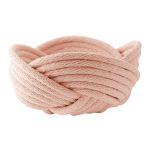 Weave bowl, large - barely blush