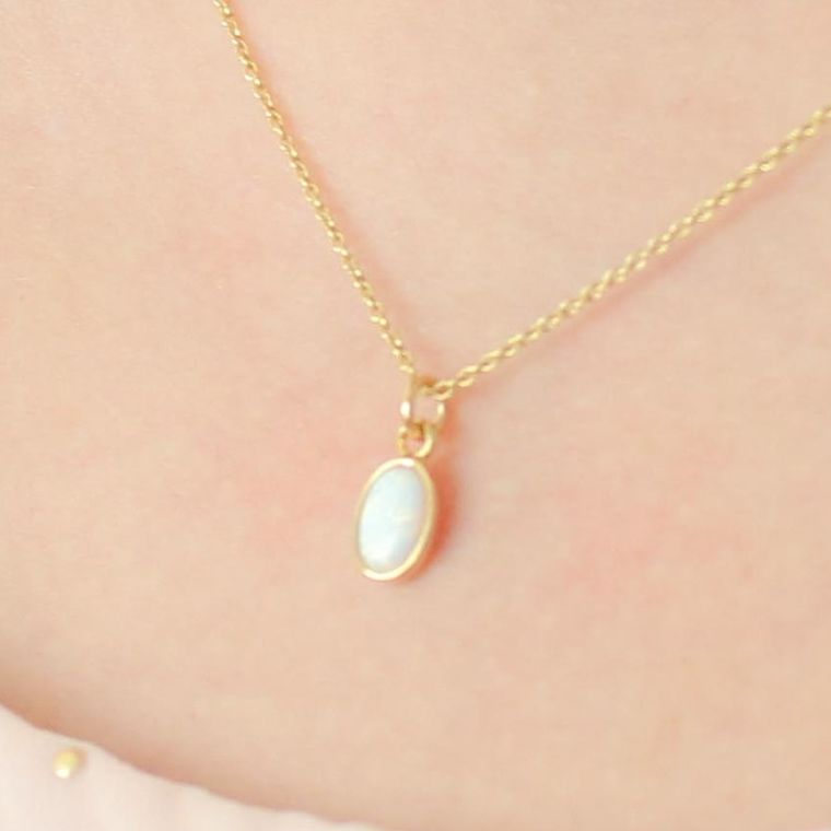 Opal Necklace-Gold