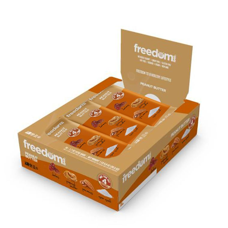 Freedom Bar Peanut Butter Case (15 Bars x 6 Boxes = 90 Bars Total)