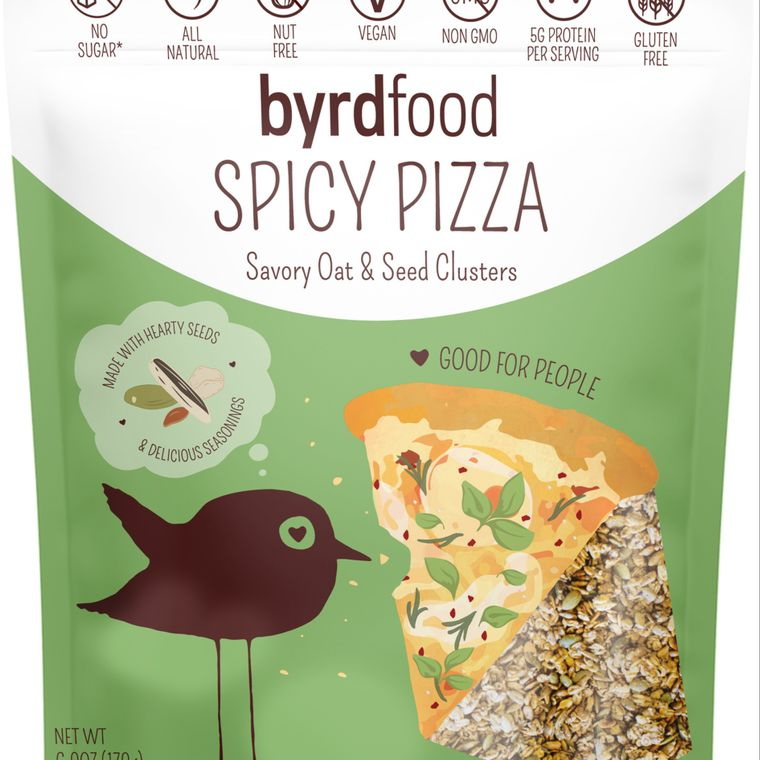 Byrdfood Savory Oat & Seed Clusters - Spicy Pizza Flavor