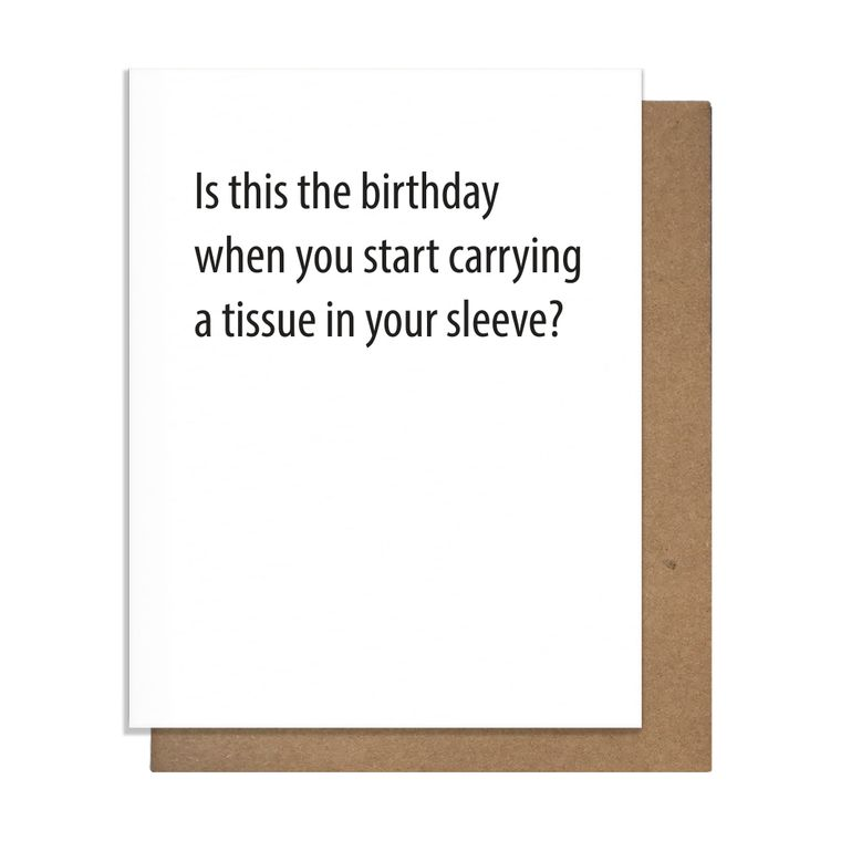 Tissue Birthday Greeting Card