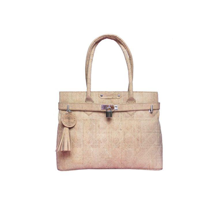 The Smyrna Bag- Natural Embossed Cork Handbag