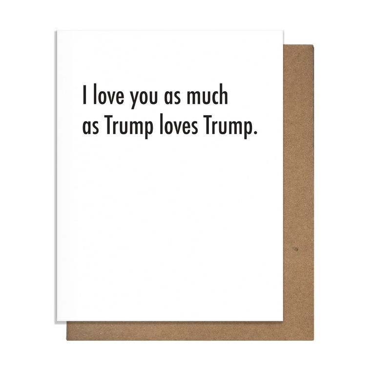 Trump Love Greeting Card
