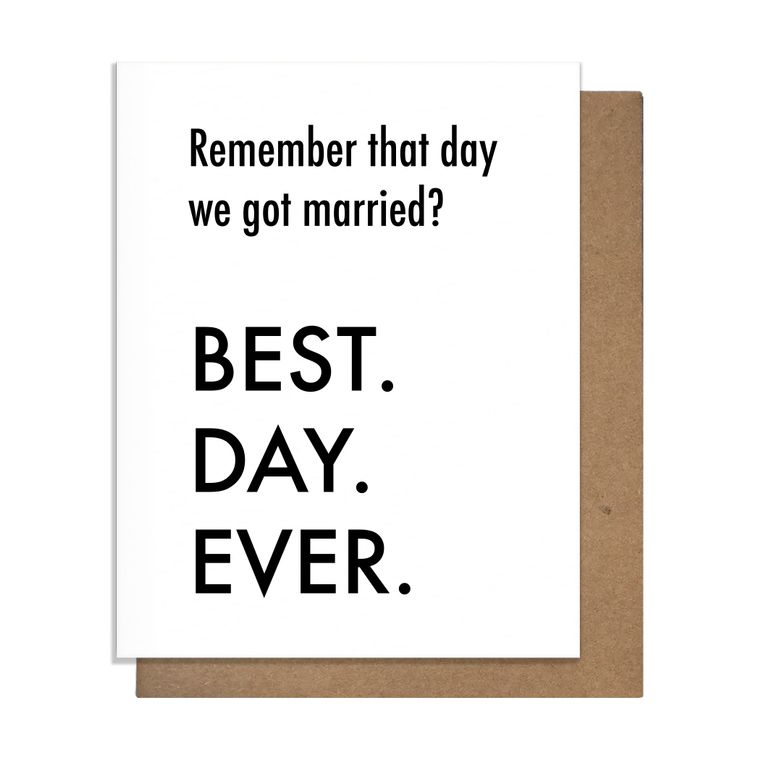 Best Day Ever Married Greeting Card